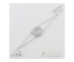 Silver Moonstone Bracelet & solar plexus chakra bracelet
