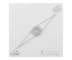 Silver Moonstone Bracelet & heart chakra bracelet