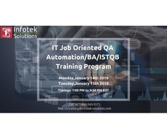 IT Job-Oriented QA Automation BA/ISTQB/Database Training Program