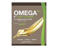 WiO Smart Foods Diet :  WiO OmegaPRO 3-6-9 Oil + Liver Cleanse - 8 oz