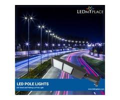 Install the Ever Efficient LED Pole Light 150 Watt 5700K Black With Photocell AM!