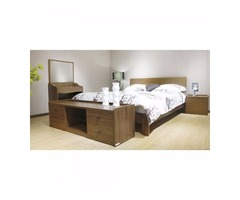 Buy Queen Platform Bed ,Brown color online•Funiture Coast to Coast