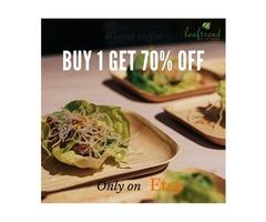 Square Palm Leaf Dinnerware
