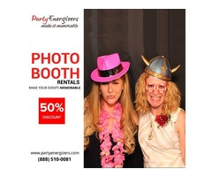 50% Off On Hiring Party Energizers Photo booths