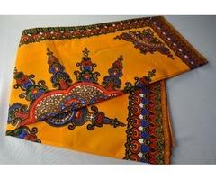 Shop African Dashiki Block Printing Fabric in New York