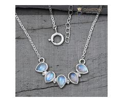 Moonstone Necklace - Captured Gleam - GSJ