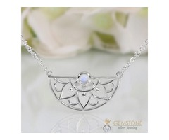 Moonstone Necklace - Adorned Aura - GSJ