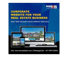 Real Estate Business Website Designing Services by NarmadaTech