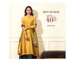 Upto 40% Off on Ritu Kumar's Designer Womenswear - Aza Fashions