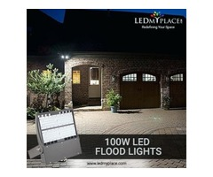 Install 100W LED Flood Lights to Illuminate Outdoor Areas