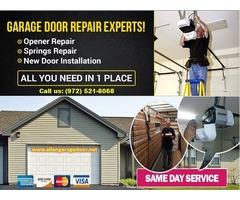 24/7 Emergency Garage Door Rolling Gate and Roll Up Door Repairs Services ($25.95) Allen  Dallas, 75