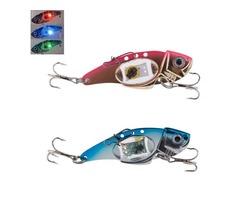 ZANLURE VIB 80mm 32g Flash LED Light Bait Fishing Lure Light Electronic Fishing Lamp