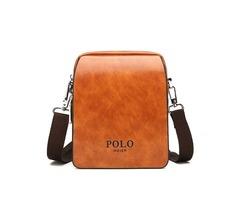 Retro PU Mens Shoulder Bag