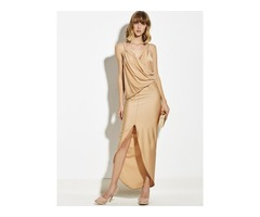 Tidebuy Plain Polyester Pullover Womens Maxi Dress