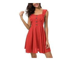 Tidebuy A-line Backless Womens Dress