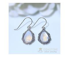 Moonstone Earring - Whimsical Diva
