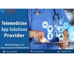 Looking for Telemedicine App solutions provider near you in USA | SISGAIN