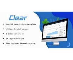 Vuejs Laravel Admin Web Template-Clear