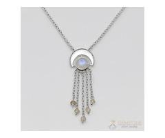 Moonstone Necklace - Celestial Waterfall - GSJ