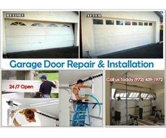 24/7 Emergency Garage Door Installation 75069, TX - $25.95