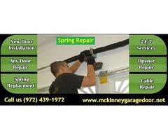 Broken Garage Door Spring Installation and Repair Services ($25.95) McKinney, TX