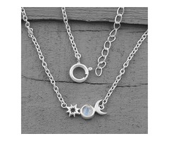 Moonstone Necklace - Moon's Companion - GSJ