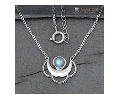 Moonstone Necklace - Moon Clouds - GSJ