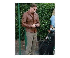 Rick Dalton Once Upon A Time In Hollywood Brown Leather Jacket Everett