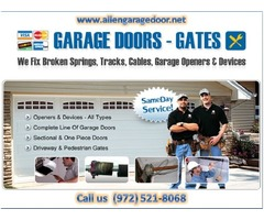 BBB A+ Rated Garage Door Openers Repair ($25.95) Allen, 75071 TX