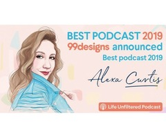 99designs Announcing Alexa Curtis best Podcasts of 2019