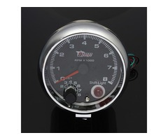 Audew DC12V 3.75 Inch Tacho with Shift Light RPM Rev Gauge Meter