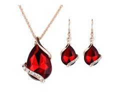 Water Drop Shaped Jewelry Set for Women