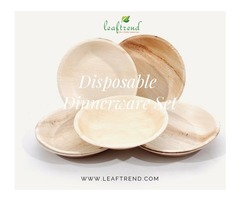 Stylish Palm Leaf Dinnerware Set