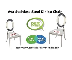 Ava Stainless Steel Dining Chair By Larry Hoffman