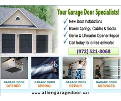 Top Most Rated Garage Door Installation Services ($25.95) Allen |Dallas, 75071, TX