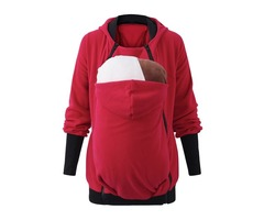 3 In 1 Babywearing Jacket Multifunctional Mother Kangaroo Zipper Hoodie