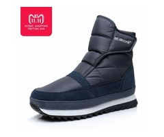 High Quality Men Boots 2018 Winter Shoes Men Ankle Boots Waterproof Non-Slip Warm Fur Flat Men Snow  | free-classifieds-usa.com