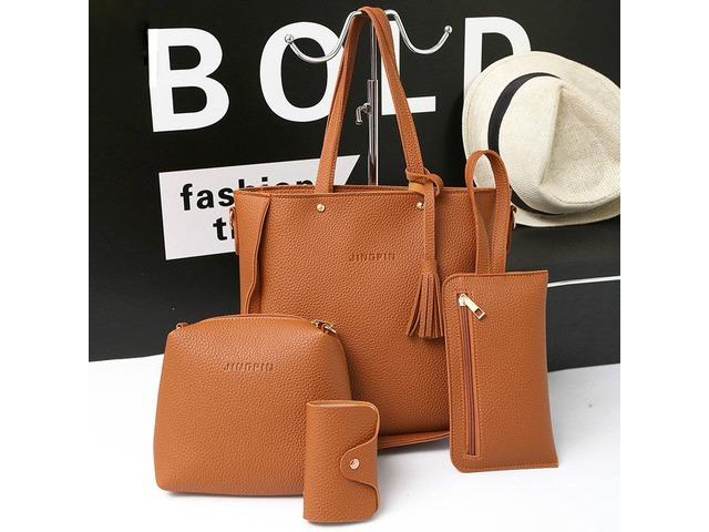 4 PCS Handbags Tassel Shoulder Bags Elegant Clutches Bags Wallets Card Holder 47.99 | free-classifieds-usa.com