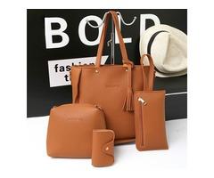 4 PCS Handbags Tassel Shoulder Bags Elegant Clutches Bags Wallets Card Holder 47.99