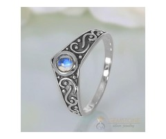 Moonstone & Moonstone Ring Gothic Affair