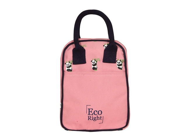 Ecofriendly Canvas Lunch Tote Bag with Bottle Holder & Zipper for Travel shipping business washa | free-classifieds-usa.com