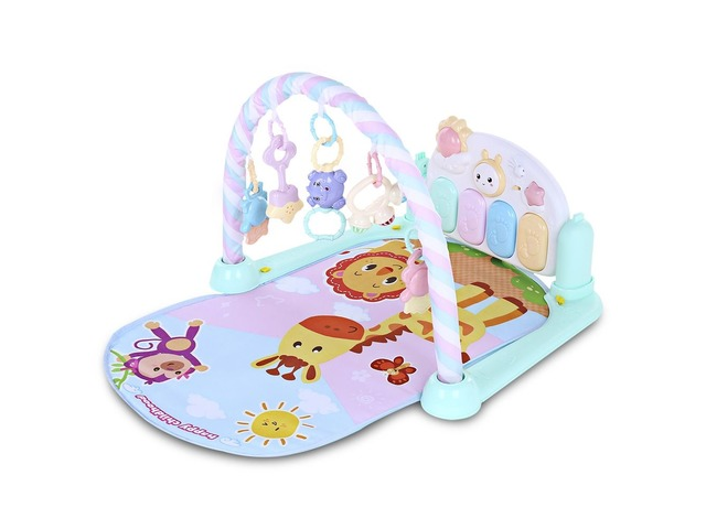 Baby Kid Forest Gym Music Game Blanket Fitness Rack Floor Crawl Play Mat Cushion