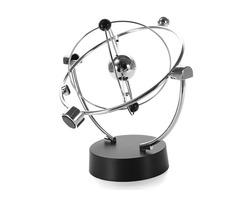 Silver Orbital Desk Decoration Celestial Newton Pendulum