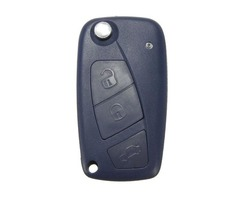 Car Key Shell Case FOB 3 button for Fiat Panda Punto Bravo Navy Blue
