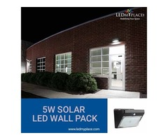 Use Renewable 5w Solar LED Wall Pack For Lighting The Surroundings
