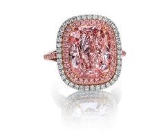 Pink diamond, Pink diamond earrings,