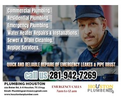 Best Plumbing Services In Houston | 24 Hour Plumber - Call us Now: 281-942-7269