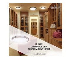 Buy The Best 11'' Dimmable LED Flush Mount Light on Sale