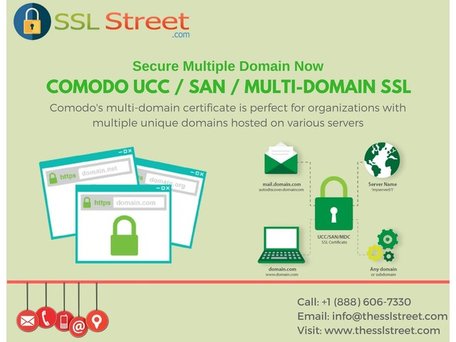 Comodo UCC / SAN / Multi-Domain SSL At $60 For 1 Year With Highest Encryption | free-classifieds-usa.com