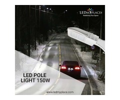 Install LED Pole Light In Your Outdoors Place And Make It Bright
